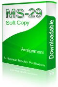 MS-29 Solved Assignment