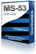 MS-53 Solved Assignment Production/Operations Management
